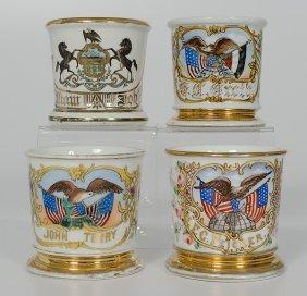 Lot Of Four Patriotic Shaving Mugs�