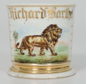 Shaving Mug With Lion Image�