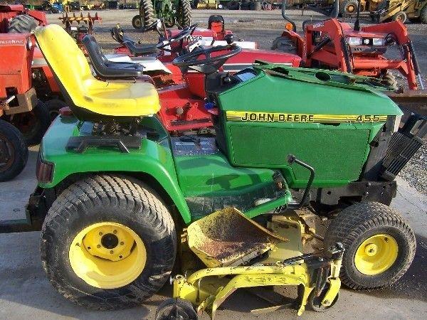 John Deere 455 Mower Parts : John deere diesel l g tractor for fix up lot