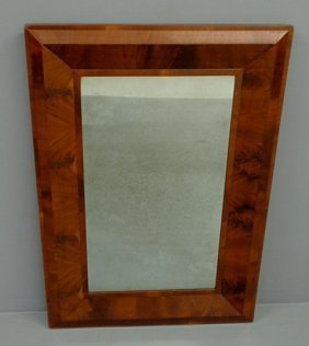 "Empire Mahogany Veneered Ogee Mirror. 38""x26"""