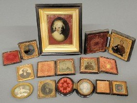 Group Of Tintypes, Two Daguerreotypes And A Martha