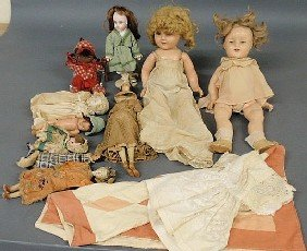 Grouping Of Dolls, Various Makers And Ages, Doll Q