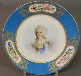 Sevres Porcelain Plate, Late 19th C., The Center P
