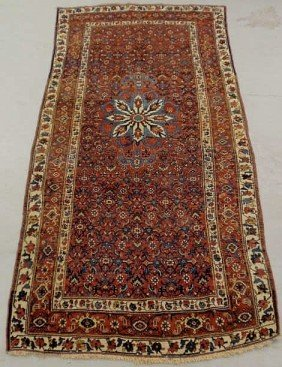 Colorful Persian Oriental Center Hall Carpet, Ivo
