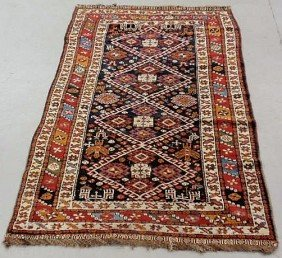 Colorful Persian Oriental Center Hall Carpet, Red