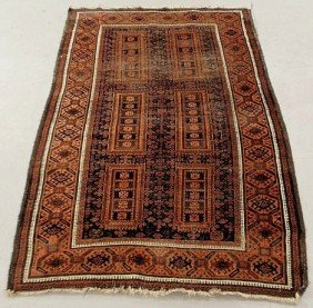 Bokhara Oriental Center Hall Carpet, Red Field Wi
