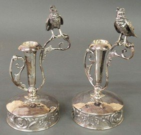 Pair Of Wilcox Silverplate Co. Candlesticks Decor