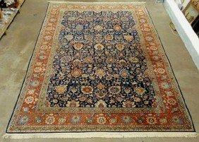 Palace Size Persian Oriental Carpet, Blue Center Fi