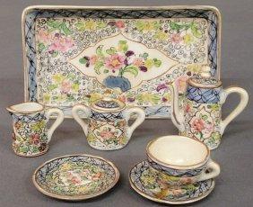 Sevres Porcelain Miniature Tea Service. As Found.