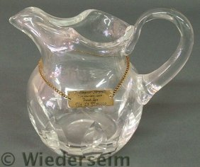 Lead Crystal Water Pitcher Signed �Cristal, St. L
