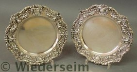 Pair Of Sterling Silver Service Plates By Gorham