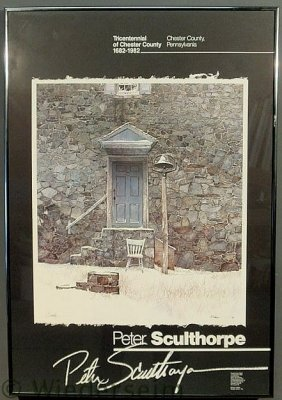 Framed Poster Depicting Peter Sculthorpe�s Painti