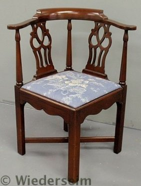 Chippendale Style Corner Chair Y Hickory Chair Co