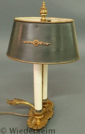 Small Brass Double-arm French Style Lamp With Met