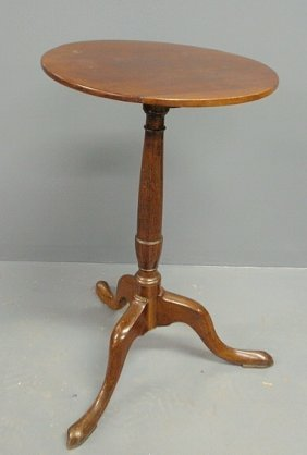 Mahogany Candlestand, C. 1820, With An Urn-turned