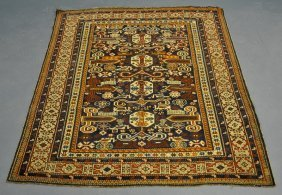 Fine, Colorful Shirvan Oriental Mat With Geometric