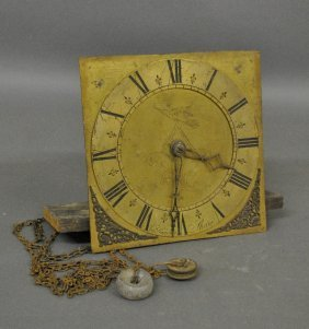Brass Face Clockworks With Roman Numerals Engraved