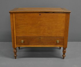 Sheraton Cherry Sugar Chest, C.1810, With Lower Drawer