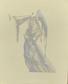 Salvador Dali Woodblock Print From The Devine Series