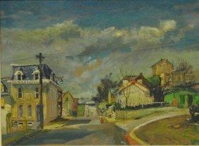 Baum, Walter Emerson [american 1844-1950] Oil On Board
