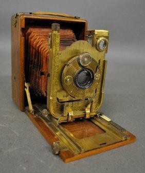 German 9x12 Cm Folding Compur Shutter Camera, C.1929,