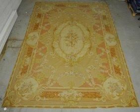 French Aubusson Needlepoint Carpet. 10'x14'