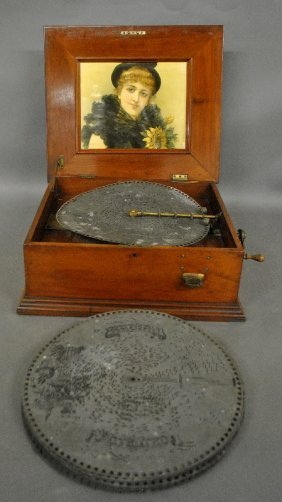 Cherry Cased Coin-operated Music Box, Probably By