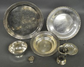 """Sterling Silver Tableware Including A Dish, 12""""dia. 40"""