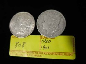 1900 And 1901 Morgan Dollars