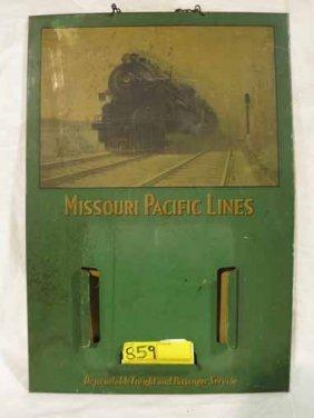 Vintage Railroad Train Schedule Sign