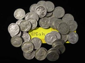 40 Buffalo Nickels (1 Roll)