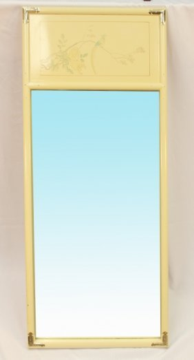 White Lacquered Mirror