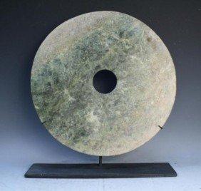 Chinese Large Jade Bi Disk Qijia Culture