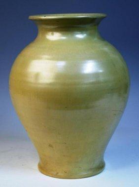 Cowan By Arthur E. Baggs Tan Ceramic Vase, 1927