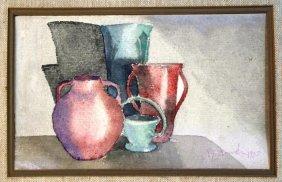 Still Life With Vessels Attr. Giorgio Morandi 1935