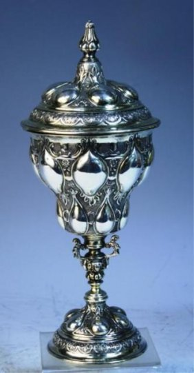 English Sterling Silver Art Nouveau Style Urn