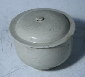 Chinese Ding Yao Covered Bowl Song Dynasty