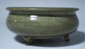 Chinese Celadon Censer Song Dynasty
