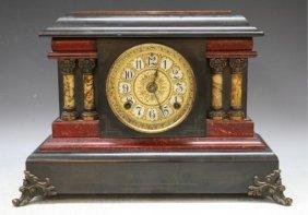 Seth Thomas Clock Co. Veneered Wood Mantle Clock