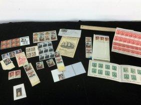 Lot Of Misc Stamps/war Bonds