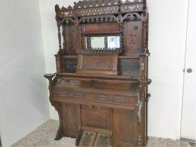 Antique Victorian Reed Pump Organ
