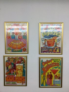 Set Of 4 Southern Comfort Posters
