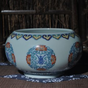 Chinese Doucai Porcelain Brush Washer
