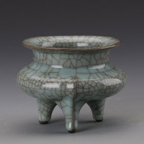 Longquan Celadon Three-legged Incense Burner