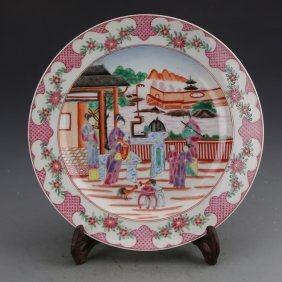 Chinese Famille Rose Saucer Dishes