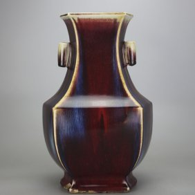 Chinese 'ox-blood' Red Porcelain Vases