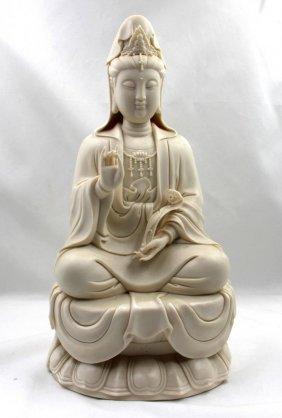 Chinese Dehua Guanyin Figure