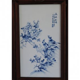 Framed Chinese Porcelain Plaque