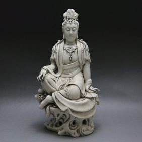 Antique Blanc De Chine Guanyin