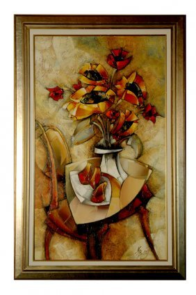 "Nathan Brutsky - ""morning Bouquet"" Giclee On Canvas"
